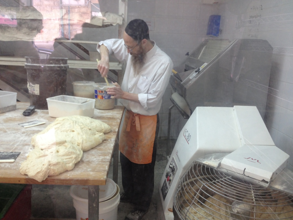 Jerusalem baker makes bread